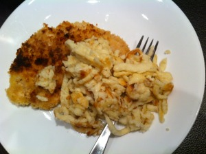 schnitzel and Spaetzle Together