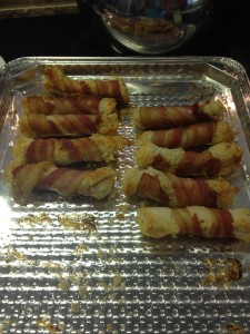 bacon wraps cooked